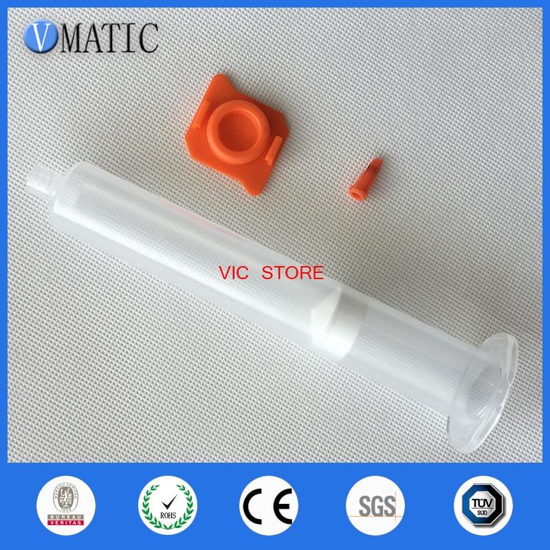 55cc Clear Air Syringe Luer Lock Tip Dispenser Syringe Barrel with piston end cover syringe tip