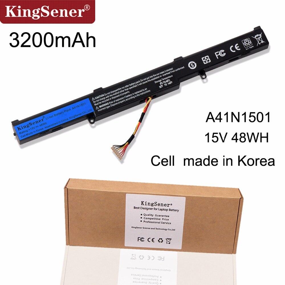 KingSener корейский Аккумуляторный элемент A41N1501 ноутбука Батарея для ASUS GL752JW GL752 GL752VL GL752VW N552 N552V N552VW N752 N752V N752VW серии