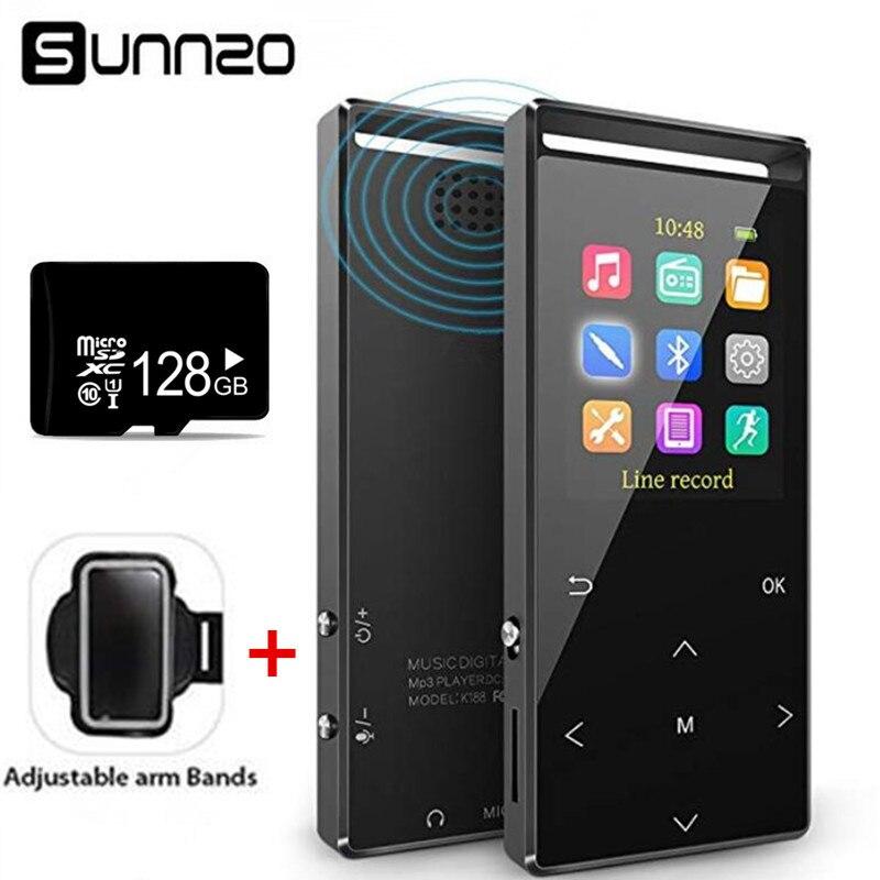 16 gb Bluetooth MP3 Player con 128 gb Scheda di Memoria di Musica di Sostegno La Registrazione Diretta di Registrazione FM Pedometro, fascia da braccio auricolare include