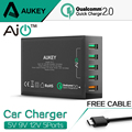 Aukey 54 W Carga Rápida 2.0 5 Portas USB Desktop QC2.0 Carregador Móvel station para iphone 7 plus huawei htc lg & mais dispositivo de telefone