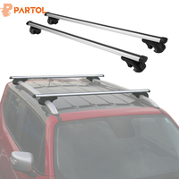 Partol Universal 120CM Car Roof Racks Cross Bars Crossbars 68kg 150LBS For Car With Side Rails