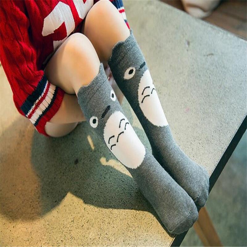 Cute Cartoon Socks For Children Long Knees Print Animal Long Knee Socks Cotton Kid Socks Fox Socks Toddler Girl Meias 0-6 Years