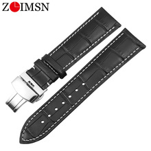 ZLIMSN Genuine Leather Watchband 16mm18mm 20mm 22mm 24mm Watch Band For Tissot Seiko DW Universal Accessories Wristband