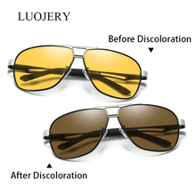 Luxury Aluminum Magnesium Polarized Sunglasses Men Vintage Brand Driving Discoloration Sun Glasses Eyewear Goggles Oculos gafas