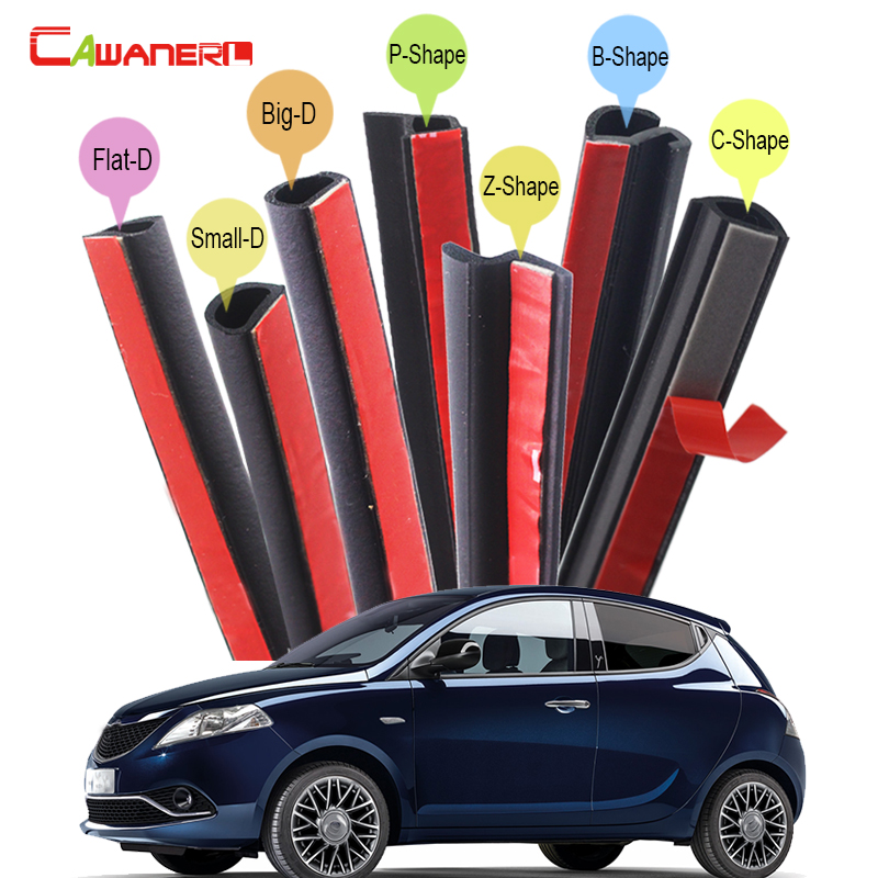 Cawanerl Car Trunk Hood Door Rubber Seal Edge Trim Weatherstrip Sealing Seal Strip Kit For Lancia Thema Thesis Ypsilon
