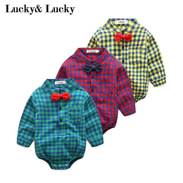 e2c6d04e3 placeholder New year baby born gentleman baby boy clothes long sleeve  jumpsuit with bow+jeans hot