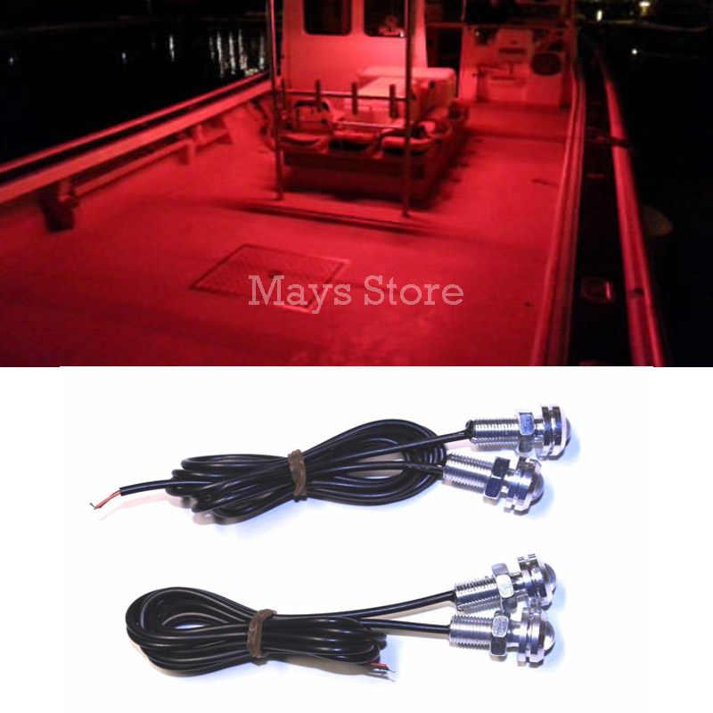 LED Di Bawah Tubuh Bisa Langkah Lampu Lampu Kapal Tahan Air 12 V Dek Penyimpanan Kayak Busur Trailer Dek Courtesy Busur Trailer ponton