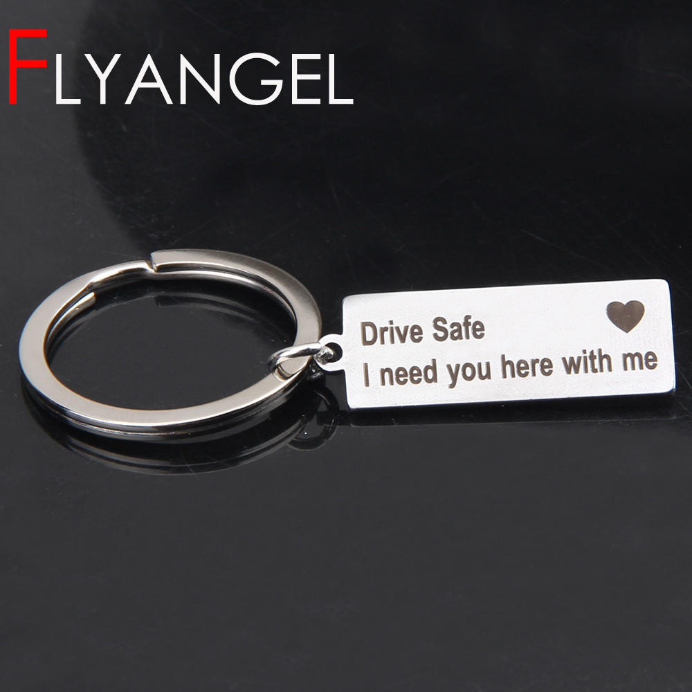 Engraved Keyring Drive Safe I Need You Here With Me Keychain Couples Boyfriend Girlfriend Gift New Driver Key Chain Углеродное волокно