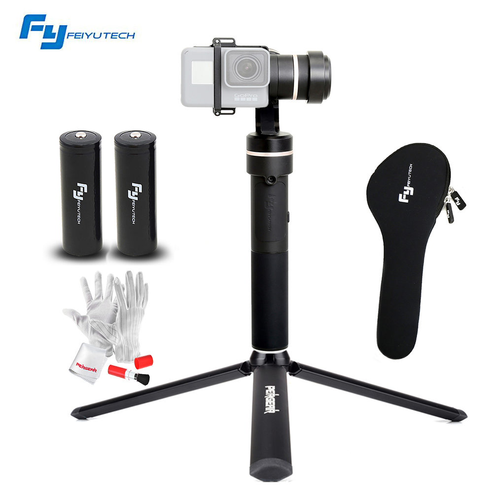 FeiyuTech Feiyu fy G5 3-axis Handheld Gimbal Splashproof with an Extra Battery for GoPro Hero 5 4 3 3+ yi 4k SJ Action Cameras feiyu g5 3 axis handheld gimbal for gopro hero5 5 4 xiaomi yi 4k sj aee action cams splashproof bluetooth enabled control