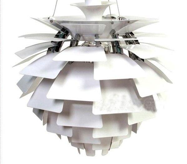 где купить 50CM aluminium luz pendente modern lamp designs PH Artichoke Pendant lights for home White luminaria 110V 220V по лучшей цене