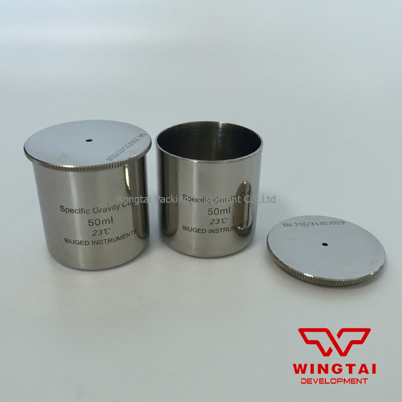 Good Quality 50cc/ml Stainless Steel Material Specific Gravity Cup/Density cup For Paint lab testing stainless steel density cup 50ml capacity specific gravity cup