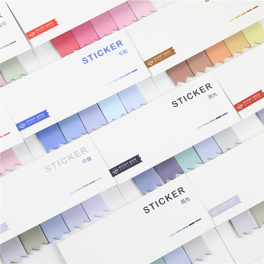 1 piece Colorful Changing Delicate Sticky Notes Office s
