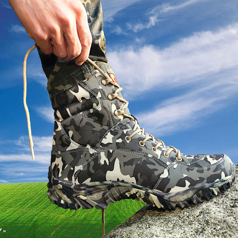2016 new sale combat boots with grey camouflage men boots asker bot   waterproof breathable bots Men Military Tactical Boots