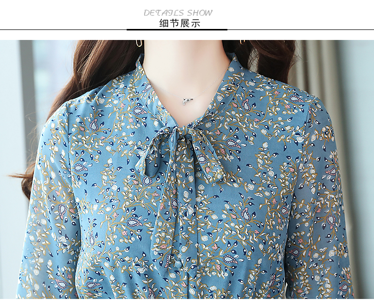2019 Autumn Winter Vintage Chiffon Floral Midi Dress Plus Size Maxi Boho Dresses Elegant Women Party Long Sleeve Dress Vestidos 80