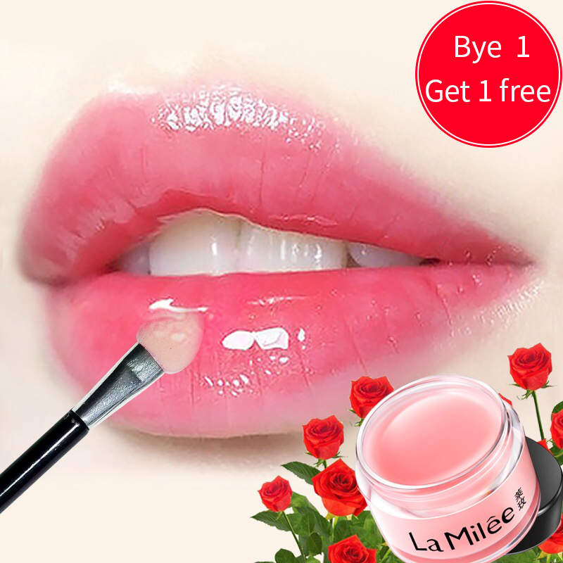 [Buy 1 Get 1 Free]Lip Mask For Lip Plumper Moisture Essence Plant Flower Extract Exfoliating Anti-Ageing Scrub lip film 20g