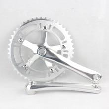 edb7139b268 Bicycle Crank & Chainwheel 46T Crank Set Fixed Gear Bike Aluminum  Chainwheel Bicycle Crank Set Sprocket