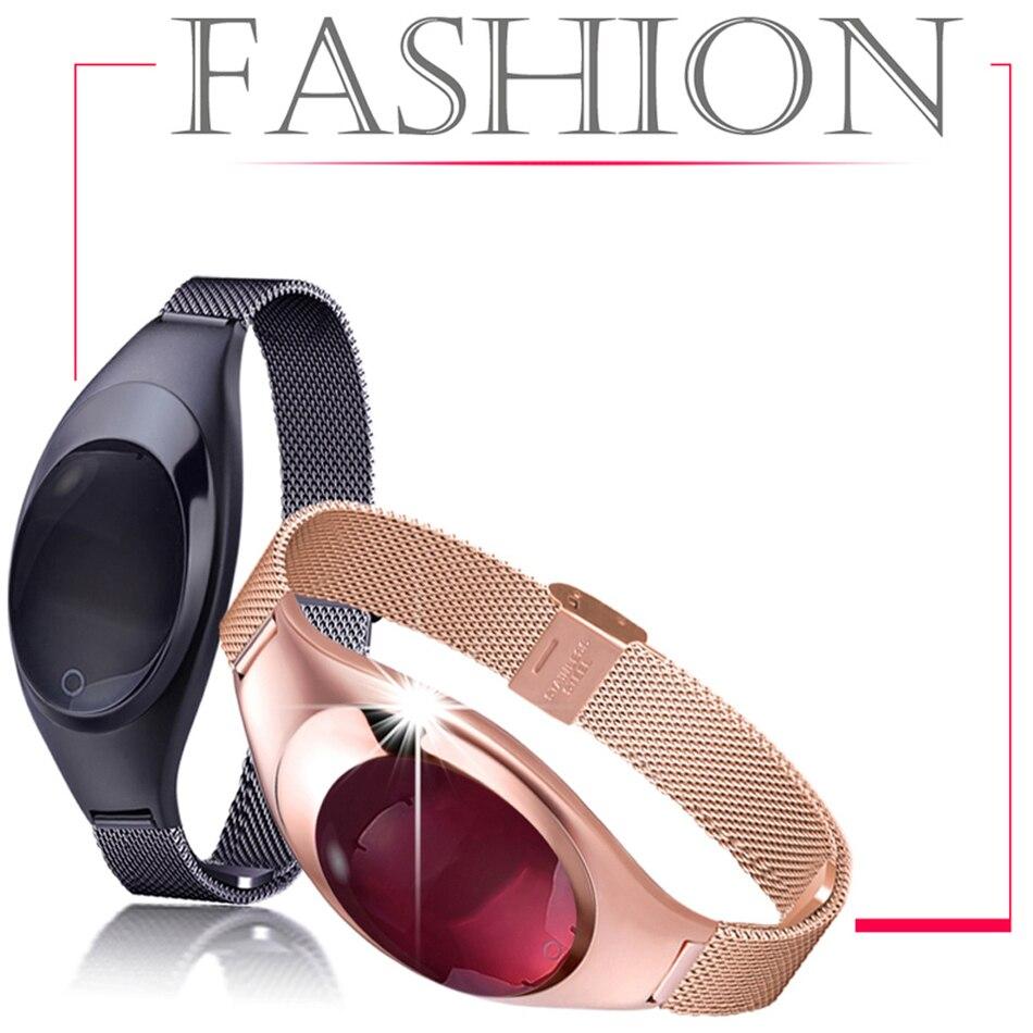Frauen Dame Mode H8 Fitness Armband Herz Rate Blutdruck Smart Armband Fitness Tracker Smart Uhr Band Weibliche Mädchen Fein Verarbeitet Intelligente Elektronik Tragbare Geräte