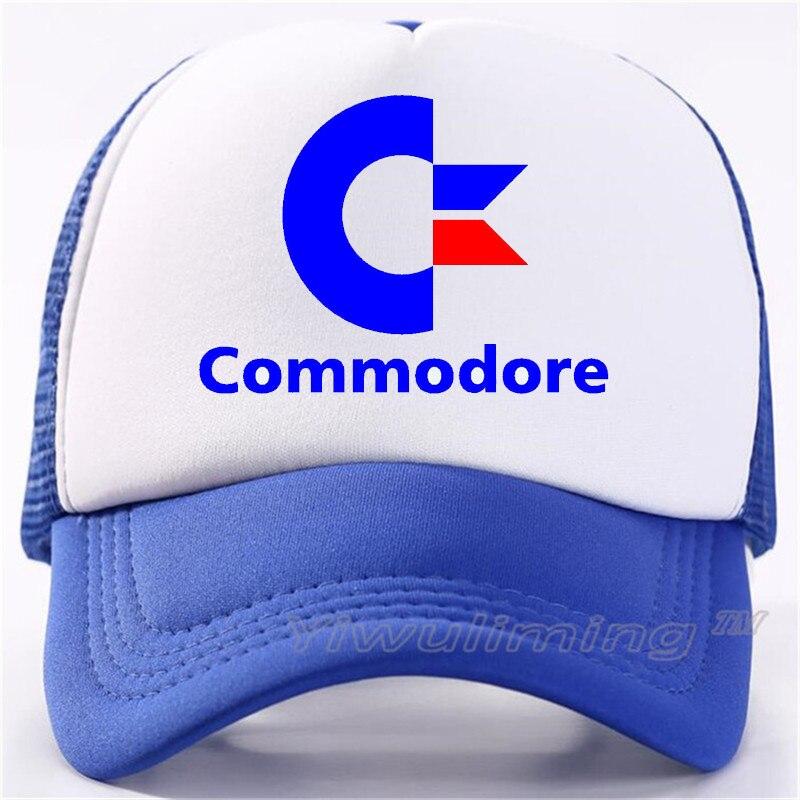 New Summer Trucker Caps Commodore 64 Cool Summer Black Adult Cool Baseball Mesh Net Trucker Caps Hat For Men Adjustable