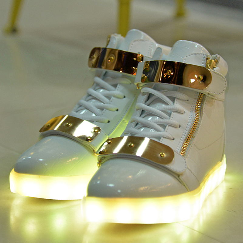 Basket Superstar Femme Basket FemmeSuperstar Led Shoes Men Led Light Shoes Women Chaussure Led Femme Light Up Shoes SN012-in Men's Casual Shoes from Shoes ...