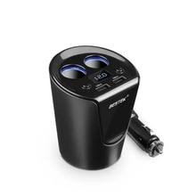 12-24 В 3.1A Dual USB Автомобильное Зарядное Устройство Адаптер С Ток Дисплей Напряжение Зарядное Устройство Автомобильный Держатель Чашки 2 Розетки Адаптер Прикуривателя