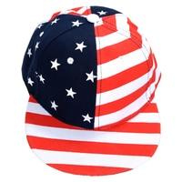 Red Casual USA Flag Print Hip-hop Cap For Men