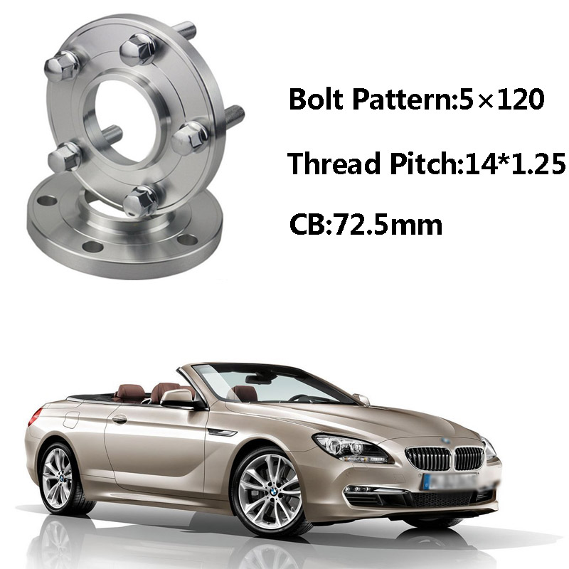 2pcs 5x120 72.5CB Centric Wheel Spacer Hubs M14*1.25 Bolts For BMW F12 F11 F21 F15 F34 F02 F03 F10 F30 F13 F33 F26 F01 F25 F20