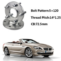 2pcs 5x120 72.5CB Centric Wheel Spacer Hubs M14*1.25 Bolts For BMW F12 F11 F21 F15 F34 F02 F03 F10 F30 F13 F33 F26 F01 F25