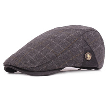 314b92338a7 Woolen Peaked Cap Man Autumn Winter Day Beret Worsted Middle Aged And Old  People Forward Keep