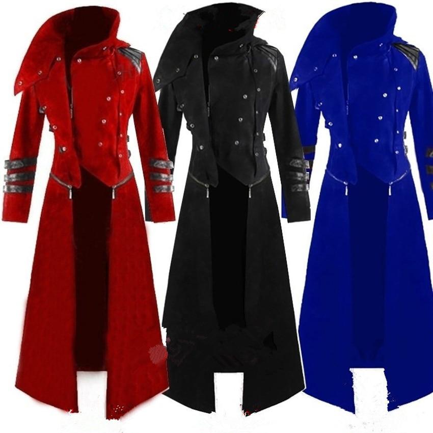 Adult Man Punk Retro Prince cosplay Tuxedo Costume Fashion Long Trench Coat