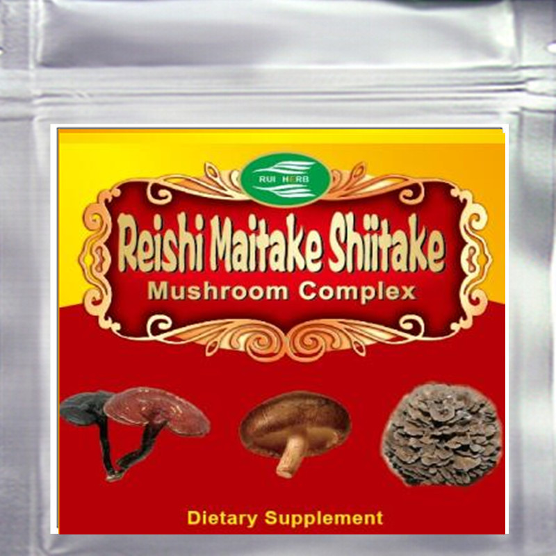 Mushroom Complex (Maitake, Reishi, Shiitake) Extract 50% Polysaccharide Free Shipping