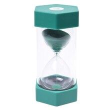 Безопасные стильные песочные часы песочный таймер 10 минут зеленый
