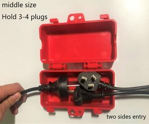 Purchase Middle Size Electrical Plug Lockout Power Plug Lockout 126*64*65 Safety Pug Lockout Box Lockout Two Sides Entry — tredingnews