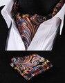2016 Nueva Floral Caravat de Lujo Para Hombre de Lujo Barroco Patrón Real Traje De Los Hombres Bufanda Partido Británico Busniess Cuadrados De Seda de Bolsillo de Moda