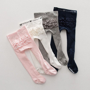 Lovely Lace Baby Pantyhose Cotton Tights Infant Lace Princess Stocking Baby Girl Tights Baby Tights Slim Pants Hosiery PP Bottom