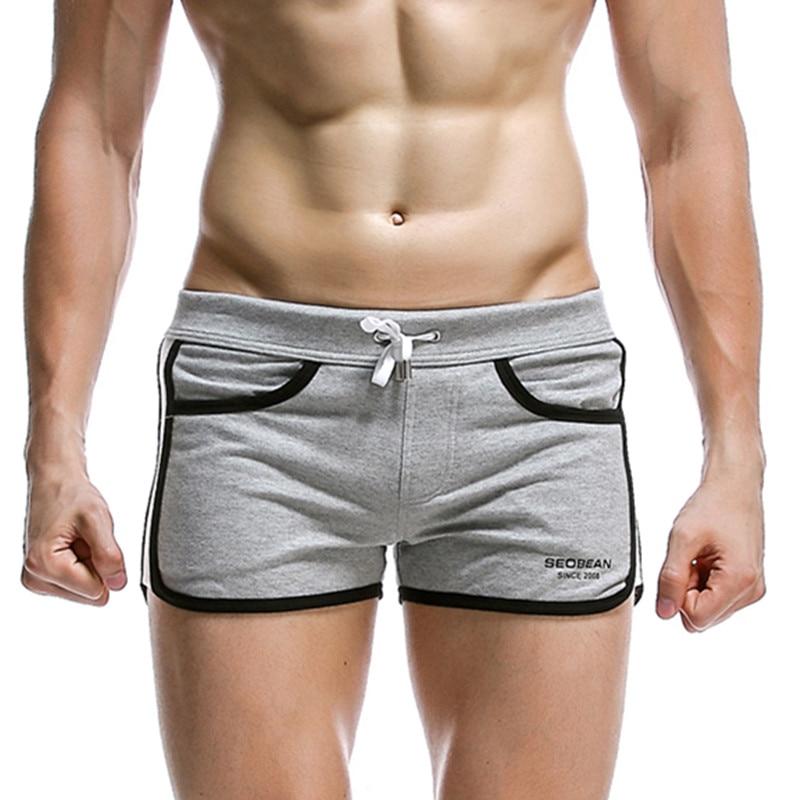 Новые мужские домашние шорты seobean, однотонные повседневные шорты, спортивный костюм, модные модели, хлопковые шорты, Размеры S M L XL