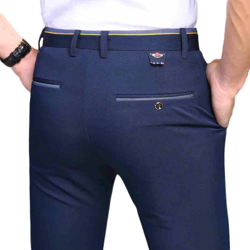HCXY 2019 New Pants Men Spring Autumn Fashion Commerce Casual Pants Men Straight Business Suit Trousers Brand Mens Pant Size 38
