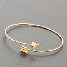 Pulseiras стрелка манжеты открыть bijoux готический панк браслеты регулируемая браслет дамы