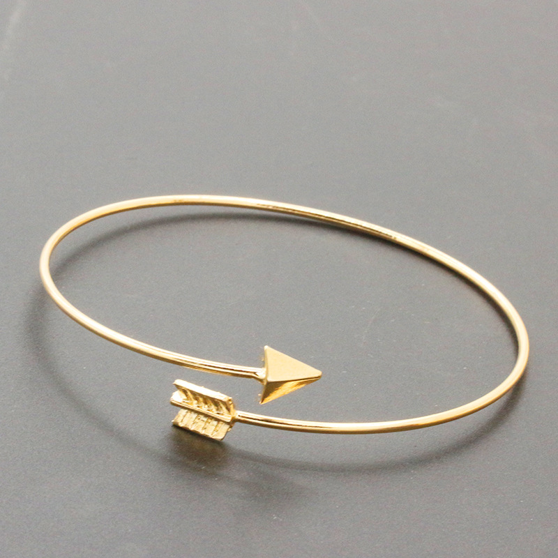 SL152 Gothic Punk Women Ladies Arrow Bangle Cuff Bracelets Jewelry Open Adjustable Arrow Bracelet Bangles Pulseiras Bijoux
