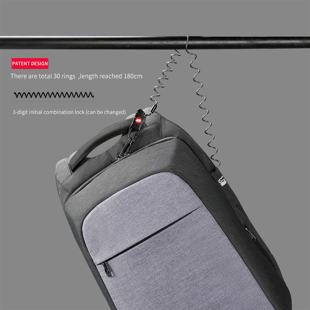 Tigernu Laptop Backpack Business Bags USB Charging Male Mochila Anti Theft Water Resistant School Bookbag for College Travel 1
