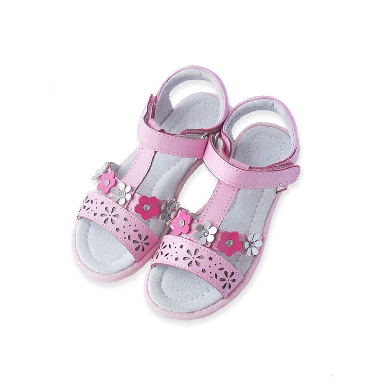 2018 new arrvial summer Orthopedic girl shoes Children Sandals, Kid Genuine Leather Sandals