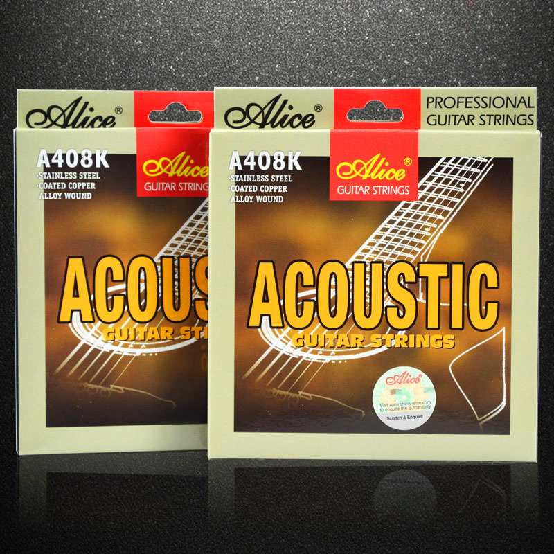 Alice Guitar Strings Sets steel core Folk wooden guitar string Acoustic Guitar accessories string anti-rust wrapped strings стоимость