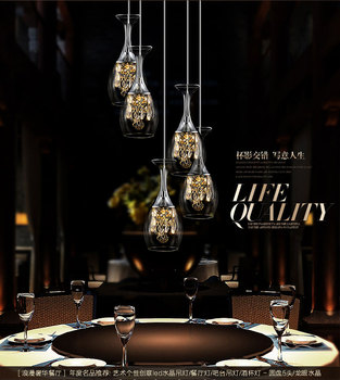 LED light 110-220V chandelier sitting room bedroom dining room lamp north European creative personality crystal chandelier