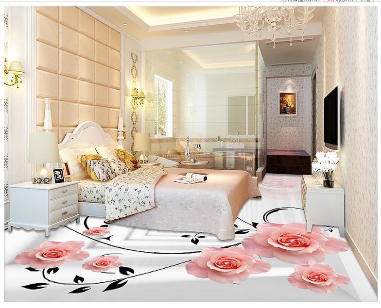 rosa rose tapeten-kaufen billigrosa rose tapeten partien aus china ... - Rosa Wohnzimmer Deko