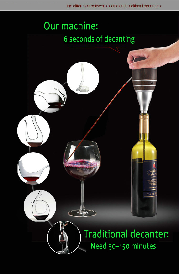 2016 Hot Sale Aliexpress Handmade Household Red Wine Decanter Wood Decanter