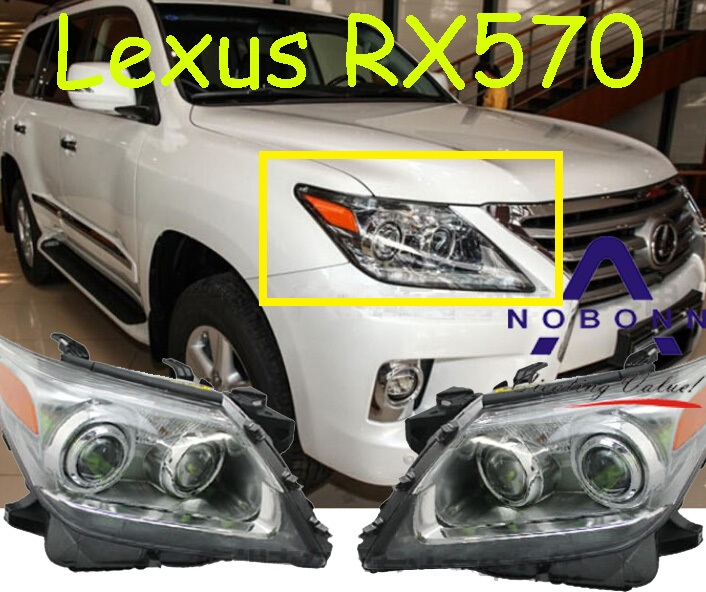 car-styling,Lexu LX570 headlight,1pcs(Secondhand,have Flaw and dirty,1pcs,Free ship!I LX570 fog,LX570 head lamp,LX 570 down and dirty