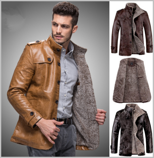 coat pu Picture - More Detailed Picture about Winter Leather ...