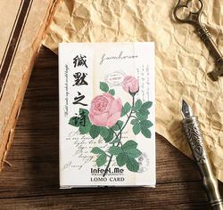 28 шт./лот мини бумаги карты приветствие цветы тему ЛОМО карта подарок DIY закладки подарок открытка с сообщением школьные, офисные