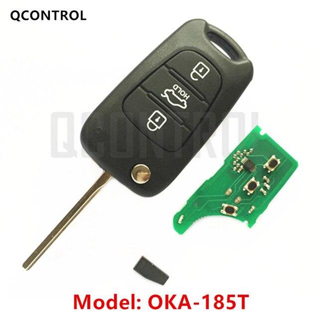 QCONTROL سيارة مفتاح بعيد دعوى لشركة هيونداي CE0682 OKA 185T السيارات 433MHz الارسال ASSY 433 EU TP