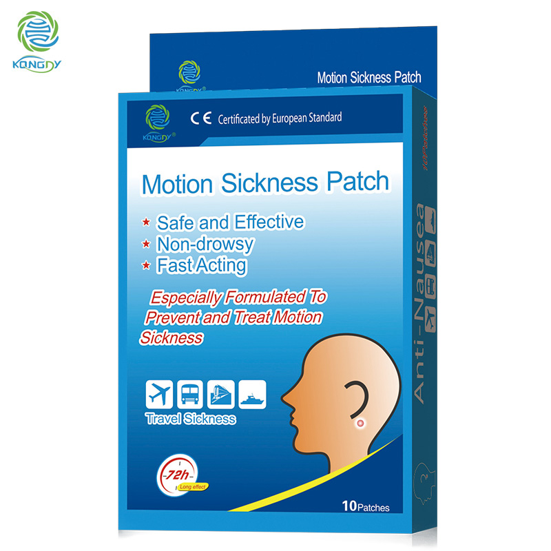 Sickness Patch KONGDY 10 Pieces/Box Behind Ear Car Motion Chinese Herbal Medical Plaster Anti-Nausea Relief Sickness Pad kongdy brand 10 bags 20 pieces adhesive sheet bamboo vinegar foot patch removing toxins foot plaster foot cleansing pads