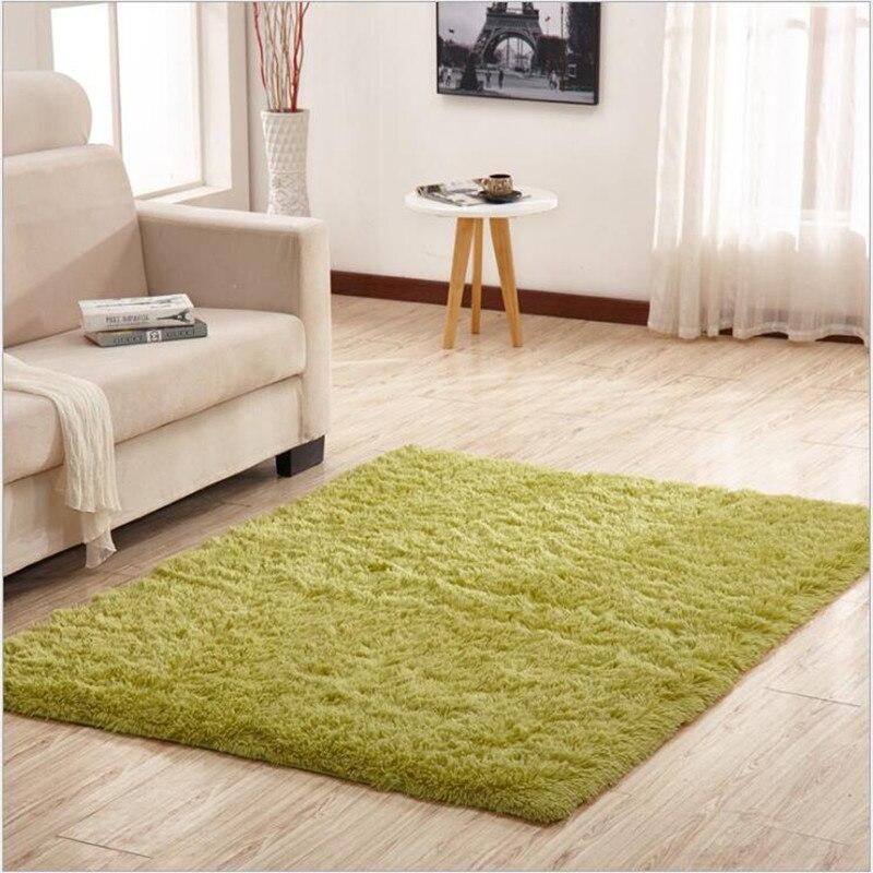 Nouveau! Livraison gratuite 120 cm * 130 cm élégant jaune clair fausse laine fourrure couleur unie tapis de ménage tapis